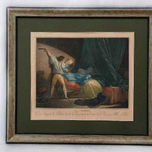 Гравюра. Франция, XVIII век. Размеры 50х42 см.