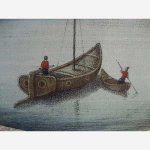 Цветная гравюра на металле «Виды Санкт-Петербурга». Франция, Париж, Gosselin, первая треть XIX века. Размеры (с рамой): 42х53 см.