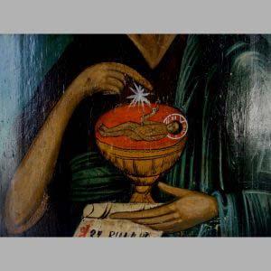 """Икона """"Иоанн Креститель"""". Дерево, темпера. Россия, XIX век. Размеры: 31х39 см."""