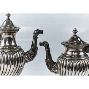 Сервиз. Серебро 800; М=686 г. Европа, XIX век.