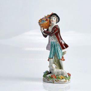 «Пастушок». Фарфор, ручная роспись. Европа, XIX век. Высота: 19 см.