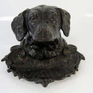 Чернильница «Голова собаки». Чугун. Россия, Касли, 1901 год. Формовщик Кузнецов.