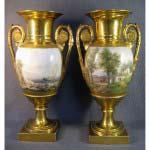 Парные антикварные вазы