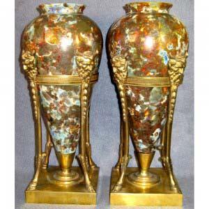 Антикварные парные вазы, антиквариат Пермь