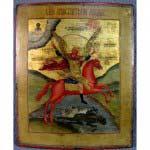 Икона «Образ Св. Михаила Архангела». Дерево, темпера. Россия, XIX век. Размеры: 21х26 см.