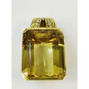 Подвеска. Золото 750: М=34,02. Вставки: цитрин (пр.) 61ct. Следов термообработки нет. 12Бр.Кр.57 4\4Б 0,20 ct. Европа, ХХ век.