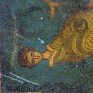 """Икона """"Панагия Горгона"""" ( """"Богородица Горгона""""). Дерево, темпера. Греция, начало XX века. Размеры: 15х18 см."""