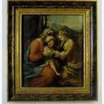 Картина «Св. Анна, Св. Мария и младенец Христос». Дерево, масло. Н. Х. Западная Европа, XVII век. Размеры: 28х24 см.