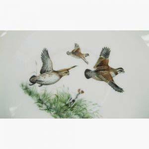 """Сервиз на шесть персон """"Охотничий"""". Фарфор, ручная роспись. Франция, Лимож, XIX век."""