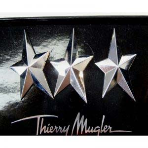 Комплект брошей «Звезда». Металл, серебрение. Франция, Мюглер (Thierry Mugler), 90-е годы ХХ века. Максимальная ширина: 4,0 см.