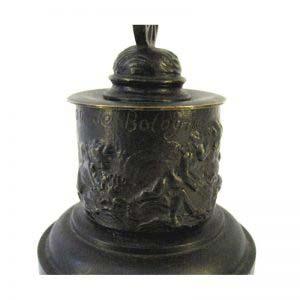 Кабинетная пластика «Фортуна». Бронза, патинирование, мрамор. Франция, XIX век. Высота: 29,0 см. Диаметр подиума: 11,0 см.