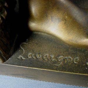 Скульптура «Рыбак» (Adolphe Jean Lavergne). Бронза, патинирование. Франция, Париж, XIX век. Максимальная высота композиции (с удочкой): 35,0 см.