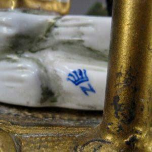 Каминный гарнитур. Фарфор, ручная роспись, бронза, золочение. Германия, 60-е годы ХХ века.