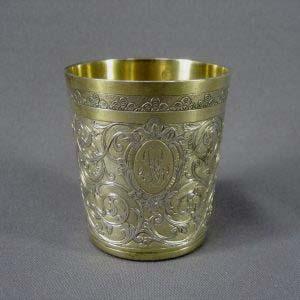 """Подарочный набор """"Эгоист """". Серебро 950; М=161,0 г; золочение. Франция, XIX век (""""историзм"""")."""
