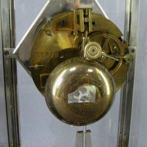 """Кабинетные часы """"Птицы"""". Франция, 20-е годы ХХ века (""""арт-деко""""). Бронза, металл, серебрение, мрамор,ручная роспись, стекло. Размеры: 36,0х47,0х12,0 см."""