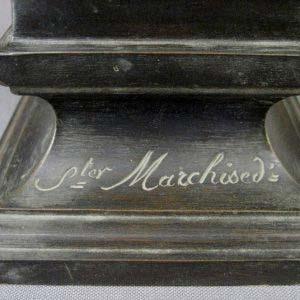 """Кабинетная скульптура """"Бюст Марии- Антуанетты"""". Автор: Marchised. Бронза, патинирование, золочение. Франция, XIX век."""