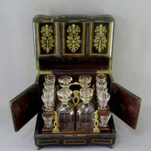 Кабинетный бар. Дерево, перламутр, бронза, «мозерское» стекло, травление, золочение. Европа, XIX век ( «викторианский» стиль).