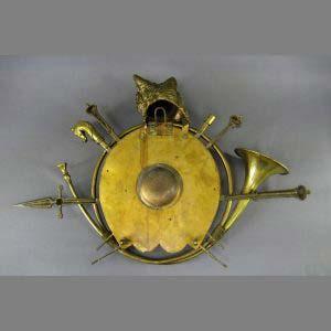 """Настенные часы """"Охота"""". Бронза, патинирование. Франция, рубеж 19-20 веков."""
