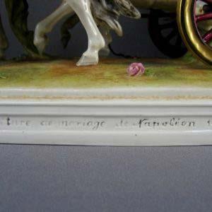 """Композиция: """"Торжественное бракосочетание Наполеона I c Марией- Луизой Австрийской"""". Фарфор, ручная роспись. Германия; начало ХХ века. Размеры: 65,0х29,0х20,0 см."""