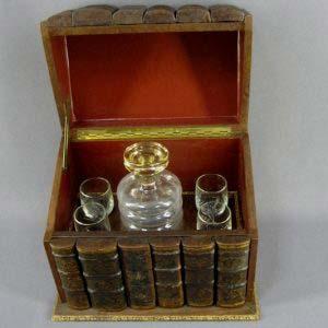 """Кабинетный бар """"Книги"""". Кожа, дерево, стекло. Франция, середина ХХ века."""