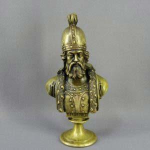 """Бюст """"Георгий I"""". Бронза, патинирование. Высота: 30,0 см. Россия, фабрика Ф. Шопена; 1868-1877 годы (модель 1868 год)."""