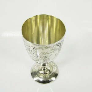 Фужер. Серебро 950 пробы; М= 177,0 г. Франция, XIX век. Высота: 15,0 см.