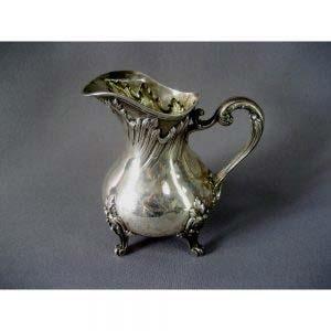 """Чайно-кофейный сервиз. Серебро 950; М=3.669 г; дерево, кость. Франция, XIX век (""""неорококо"""")."""