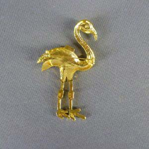 Брошь «Фламинго». Металл, Франция, ХХ век. Размеры: 4,5х8,0 см.