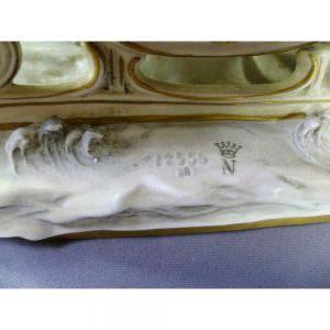 """Композиция """"Тройка"""". Фарфор, ручная роспись. Германия, ХХ век: 16х40см; высота: 18,0 см."""