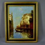 "Картина ""Венеция"". Холст, масло. Альберт Дюпрант (1882-1974 гг). Италия. Размеры холста: 58х44 см."