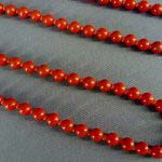 Бусы. Красный оникс. СССР, ХХ век. Длина: 126,0 см.