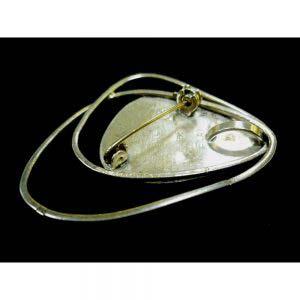 """Брошь-подвеска. Серебро 925; """"мурановое"""" стекло. Израиль, конец ХХ века. Ширина: 5,0 см."""