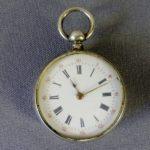 Дамские карманные часы. Серебро 800. Западная Европа, вторая половина XIX века. Диаметр: 3,0 см.