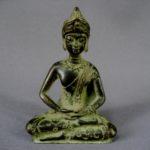 """Статуэтка """"Будда"""". Бронза, патинирование. Восток, ХХ век. Высота: 8,0 см."""