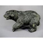 """Кабинетная скульптура """" Медведь"""". Бронза, патинирование. Россия. Максимальная высота: 19,0 см."""