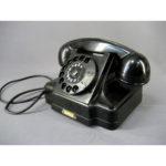 Телефон настольный. СССР, 1963 год. Предмет находится в рабочем состоянии.