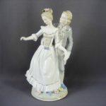 Композиция «Влюблённые. Танец». Фарфор, бисквит, ручная роспись, золочение. Европа. Высота: 37,0 см.