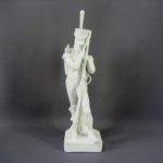 """Композиция """"Старый солдат"""". Бисквит. Франция, XIX век. Высота: 34,0 см."""
