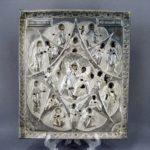 """Икона """"Неопалимая Купина"""". Оклад: серебро 84; доска: дерево, темпера, левкас. Россия, Москва, 1820 год."""