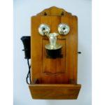"""Настенный кабинетный бар """"Телефон"""". Дерево, металл, пластик, стекло. США, 50-60-е гоы ХХ века. Длина: 31-42 см."""