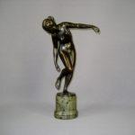 """Композиция """"Диана"""". Бронза, патинирование, мрамор. Европа, XIX век. Высота: 29,0 см."""