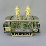 """Музыкальный бар """"Сан-Франциско. Трамвайчик № 2. """". Металл, стекло. США, 60-70-е годы ХХ века. Вагон: 23х12х10 см."""