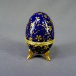 """Шкатулка """"Яйцо"""". Фарфор, ручная роспись, золочение, металл. Европа, ХХ век, Высота: 8,0 см."""